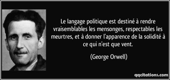 langage politique